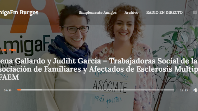 Esclerosis Múltiple Burgos en AmigaFM Burgos